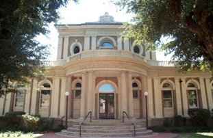 front view of the most beautiful library in the deep south