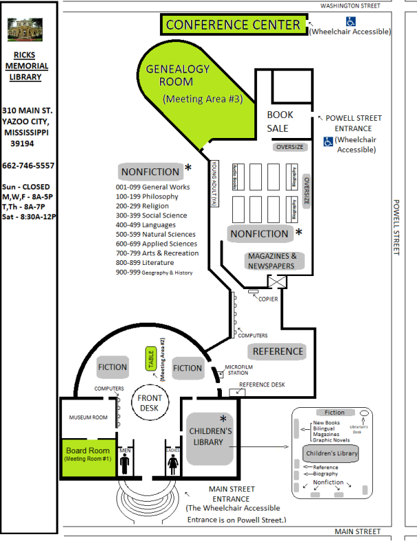 Library Map - 1st Floor - COMPLETED in color