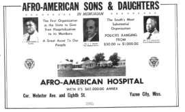 local history files- afro american hospital